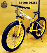FOLDABLE FAT TYRE CYCLE , 26.4 INCH WHEELS AND 21 SHIMANO GEARS