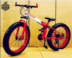 FOLDABLE FAT TYRE CYCLE , 26x4 INCH WHEELS AND 21 SHIMANO GEARS