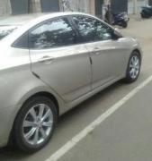 Silver In Color Hyundai Verna