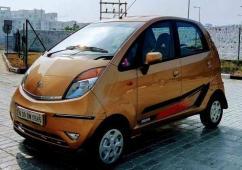 Golden Coloured Tata Nano Available