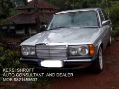 1985 MERCEDES 123 SERIES 300 D DIESEL KERSI SHROFF AUTO CONSULTANT AND DEALER
