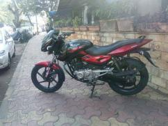 Bajaj pulsar in black and red color available