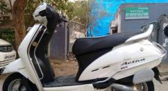 White In Color Honda Activa