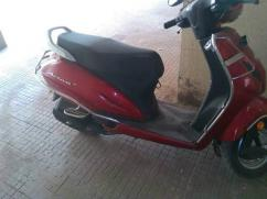 Honda activa in red color