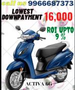 Honda Activa 6G Bs VI get in Lowest Downpayment