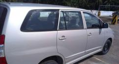 Silver Coloured Toyota Innova