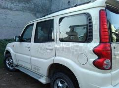 White Coloured 2010 Model Mahindra Scorpio