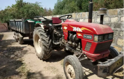 Eicher Tractor 364 with trailer Modal 2009