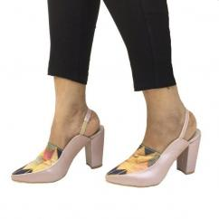 Buy Georgia Pink Patterned Heels For Women at PAIO Shoes