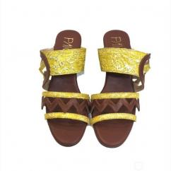 Buy Bailey Yellow And Brown Wedge Heels for Women at PAIO Shoes