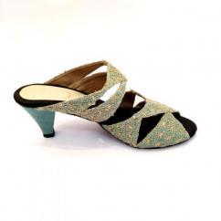 Buy Kyla Blue Sequin Mule Heels for Women at PAIO Shoes