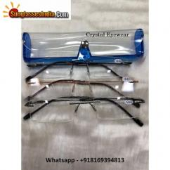 Crystal Rimless Reading Glasses