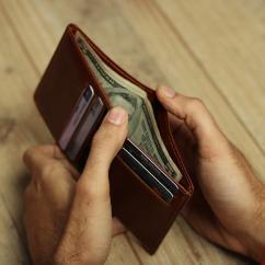 Slim Handmade Leather wallet, Mens Leather Wallet Bifold, Custom Wallet,