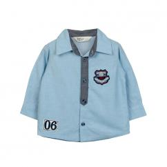 Beebay Twill Chambray Shirt Light Blue for 0-24 Months