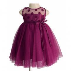 Party Dress For kids like Wine Flocked Dress