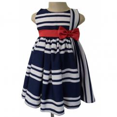 Best Kids Formal Dresses in Striped Blue Design from Faye