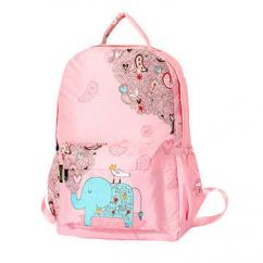 Pink in color school bag