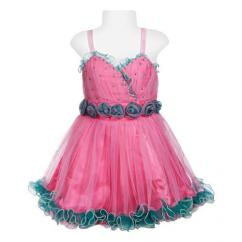 Partywear Frock in pink color