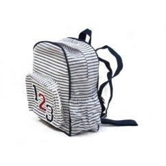 School Bag in black and white color
