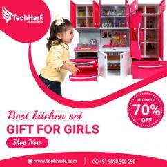 Master Chef Cooking Pink Barbie Light Music Kitchen Set