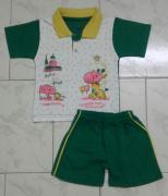 Kids boys sets polo collar top and shorts
