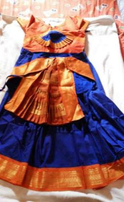 Bharatnatyam dance dress for children aged 7 to 9 yrs old