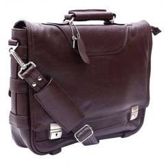 Gents Laptop Bag In Dark Brown Color