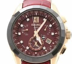 Branded Wrist Watch With Brown Strap