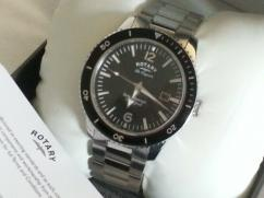 Gents wrist watch with silver chain