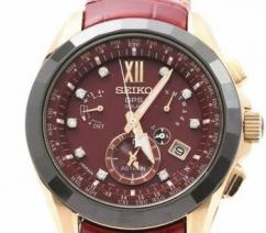 Wrist watch with brown belt