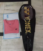 Yonex Voltric Racket and Tshirt