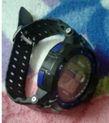 Sporty watch with date,alarm, light,stop time
