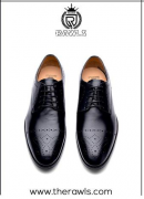 Rawls Luxure Wingtip Brogue Oxford Handcrafted Men Genuine Leather Lac