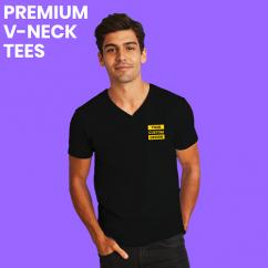 Custom Printed VNeck T shirts