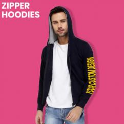 Printed Zipper Hoodies for Male And Female