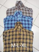 Men twill check shirts