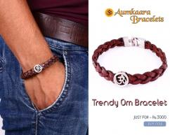 Trendy Om Bracelet in Silver