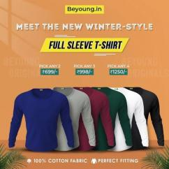 Buy Full Sleeve T shirts For Mens Online India at Beyoung