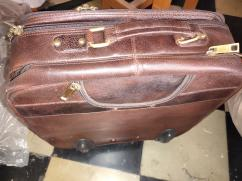 UNISEX - LAPTOP BAG & TRAVEL TROLLEY LEATHER