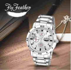 Fly Feather Analog Silver Dial Watch