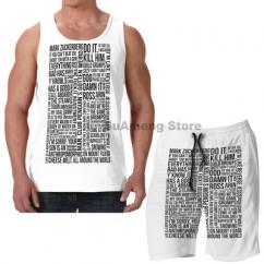 Summer Casual funny print men and women Tank Tops