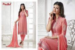 Praful -Designer Brasso Embroidery Salwar Suit-By textilebazar.in