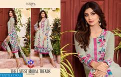designer schiffly georgette embroidered karma suits available