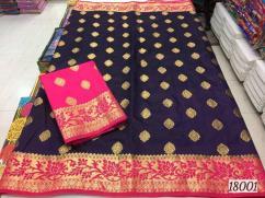 elegant orio silk organza sarees with contrast border and blouse