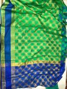 elegant banarasi silk sarees with zari pallu and blouse