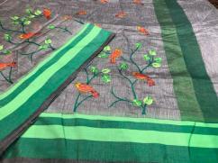 elegant Soft Maheshwaris with all over woven khashida Kaaj