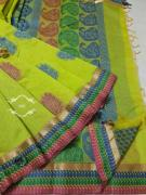 elegant pure high end silk cotton sarees with running blouse