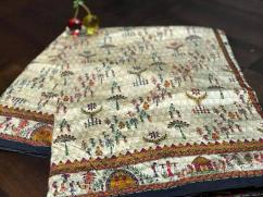 kantha stitch on assam silk sarees collections  bulk purchase moq- 5pcs at rs180