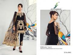 elegant juvi eshaal vol3 faux georgette embroidered suits