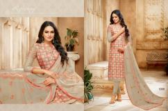 elegant rayon cotton salwar suits with embroidered sleeves available